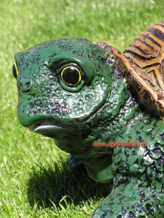 Lustige Gartenschildkröte Schildkröte Deko Garten - Vorschau 2