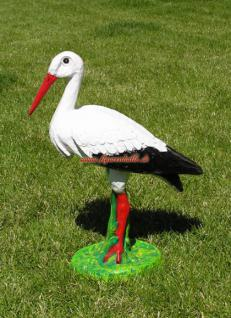 Storch Figur Klapperstorch Aufstellfigur Deko