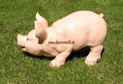 Schwein Ferkel als Dekofigur Statue - Vorschau 3
