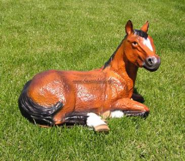 Pferd liegend Aufstellfigur Gartenfigur Dekofigur