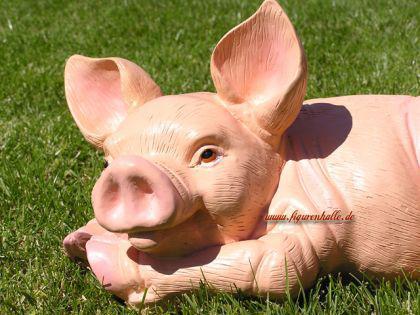 Schwein Sau Eber Dekofigur Figur Rosa Deko