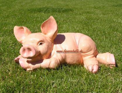 Schwein Sau Eber Dekofigur Figur Rosa Deko - Vorschau 2