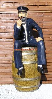Kapitän aus Fass Figur Statue Skulptur Deko Maritim Dekoration - Vorschau 1