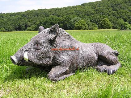 Wildschwein als Dekofigur für Haus und Garten - Vorschau 4