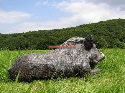 Wildschwein als Dekofigur für Haus und Garten - Vorschau 5
