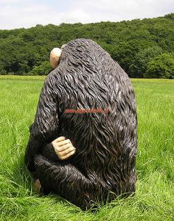 Simpanse Affe Figur Dekofigur Statue Skulptur - Vorschau 4
