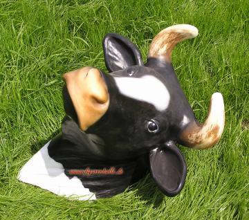 Kuh Kopf Kuhkopf Figur Wanddek zum aufhängen Deko