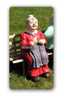 Oma & Opa auf Gartenbank Gartenfigur Figur Deko - Vorschau 4