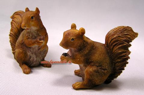 Eichhörnchen Figur Statue Skulptur Deko Set Wald - Vorschau 1