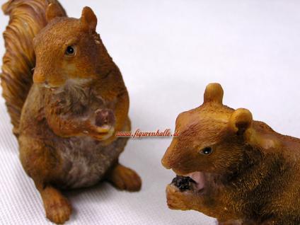 Eichhörnchen Figur Statue Skulptur Deko Set Wald - Vorschau 2