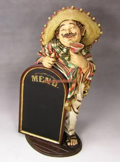 Mexikaner als Beach Bar Deko Dekoration Figur Tafel Statue Skulptur