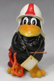 Rabe als Feuerwehrmann Feuerwehr Dekoartikel Deko