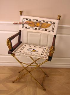 Ägyptisches Möbelstück als Stuhl mit Tutanchamun Stuhl