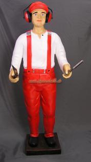 Werbefigur Schreiner Elektriker Mechaniker Figur Statue Werbeaufsteller