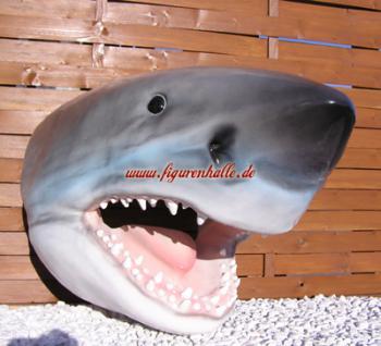 Hai Haifisch Kopf Haikopf Figur sharK Dekoration - Vorschau 1