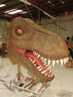 Tyrannosaurus Rex Kopf Lebensgroß Figur Dekoration