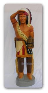 Häuptling Indianer Figur Dekorationsfigur Statue - Vorschau 2