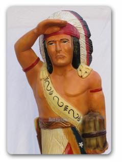 Häuptling Indianer Figur Dekorationsfigur Statue - Vorschau 1