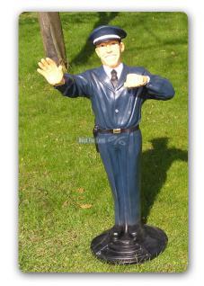 Polizist Wachmann Dekofigur Figur Aufstellfigur