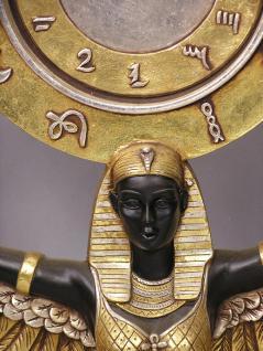 gyptische isis figur gypten statue skulptur standuhr. Black Bedroom Furniture Sets. Home Design Ideas