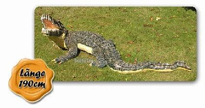 Krokodil Kroko Aligator Figur Dekofigur Garten - Vorschau 3