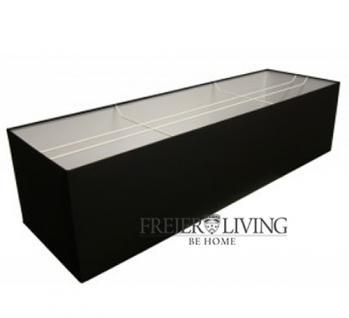 Lampenschirm für Deckenlampe Esszimmer rechteckig grau schwarz weiß - Vorschau 1