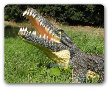 Krokodil Kroko Aligator Figur Dekofigur Garten - Vorschau 1