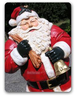 Lebensgroße Weihnachtsmann Figur Dekofigur. - Vorschau 2