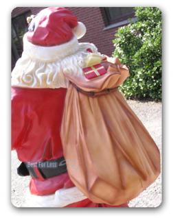 Lebensgroße Weihnachtsmann Figur Dekofigur. - Vorschau 4