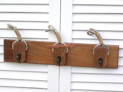 Schlüsselbrett schlüsselkasten Garderobe Maritim Deko Dekoration Harkenleiste - Vorschau 1
