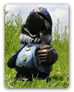 Maulwurf als Kapitän Seefahrer Dekofigur Figur