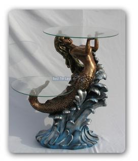 Meerjungfrau als Tisch Maritime Dekoration Figur - Vorschau 1
