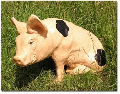 Schwein mit Flecken Dekofigur oder Werbefigur - Vorschau 1