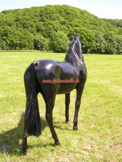 Pferd mit Kunst Mähne als Lebensgroße Figur Tierfigur Statue - Vorschau 2