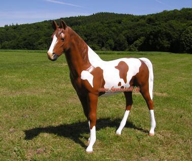 pferd westernpferd quarter horses figur lebensgro statue geflecktes kaufen bei helga freier. Black Bedroom Furniture Sets. Home Design Ideas