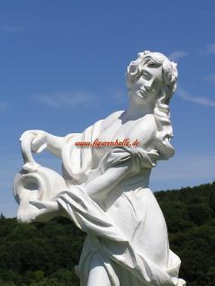 Frau Nackt Gartenfigur Skulptur Statue weiß Deko Garten Schloss - Vorschau 2