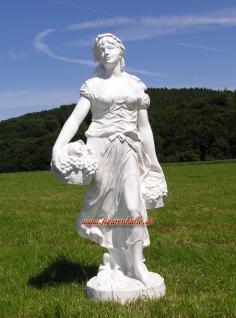 Frau mit wein weiß Figur Deko Gartenfigur Skulptur