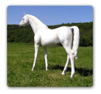 Pferd weiß Schimmel Lebensgroßes Dekofigur - Vorschau 2