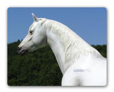 Pferd weiß Schimmel Lebensgroßes Dekofigur - Vorschau 4