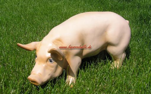 Rosa Schweinchen als Figur zur Deko