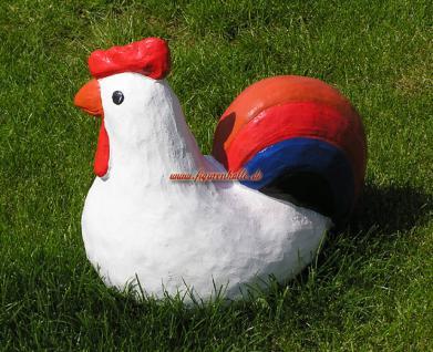 Huhn als Figur zur Küchen Dekoration in lustigem buntem ton - Vorschau 2