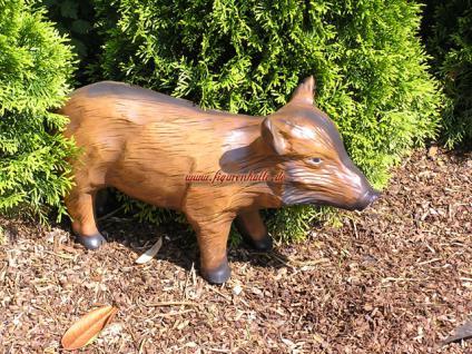 Wildschwein Frischling Dekofigur Figur Statue Skulptur Garten Gartenfigur - Vorschau 1