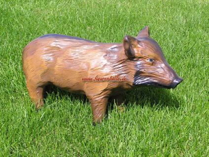 Wildschwein Frischling Dekofigur Figur Statue Skulptur Garten Gartenfigur - Vorschau 2