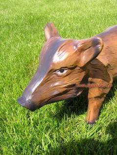 Wildschwein Frischling Dekofigur Figur Statue Skulptur Garten Gartenfigur - Vorschau 3