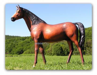 Lebensgroßes Pferd Lebensgroß Dekofigur Figur - Vorschau 1