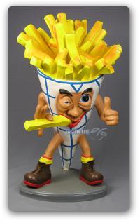 Pommes Tüte Figur Werbefigur und Kundenstopper
