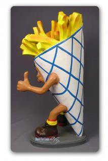 Pommes Tüte Figur Werbefigur und Kundenstopper - Vorschau 3