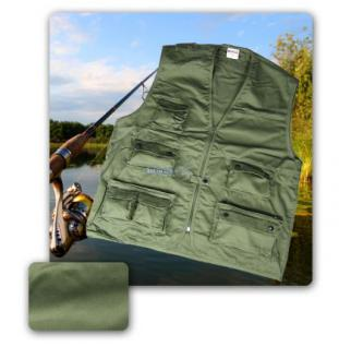 Angelweste Angel Jagd Outdoor Weste olive 1