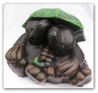 Maulwurf unterm Regenschirm Gartenfigur Figur