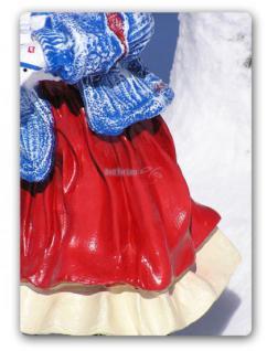 Mädchen Winterdekoration Advents Deko Figur Deko - Vorschau 3